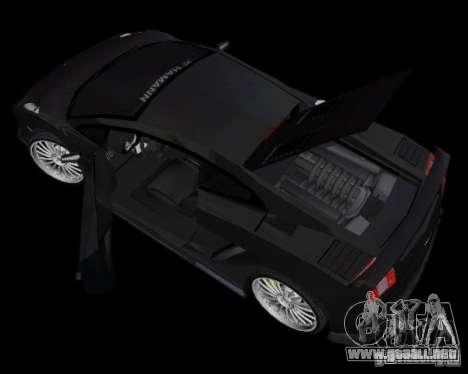 Lamborghini Gallardo Hamann Tuning para GTA Vice City vista lateral izquierdo