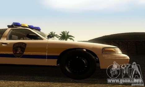 Ford Crown Victoria Puerto Rico Police para la visión correcta GTA San Andreas