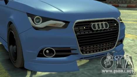 Audi A1 para GTA 4 vista hacia atrás