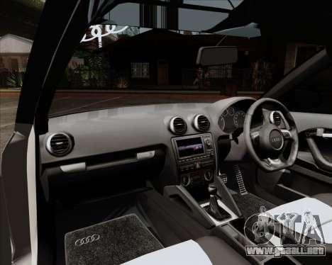 Audi S3 V.I.P para visión interna GTA San Andreas