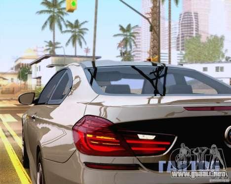 BMW M6 2013 para vista lateral GTA San Andreas