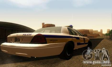 Ford Crown Victoria Puerto Rico Police para GTA San Andreas left