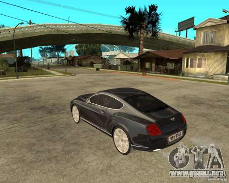Bentley Continental GT para GTA San Andreas left