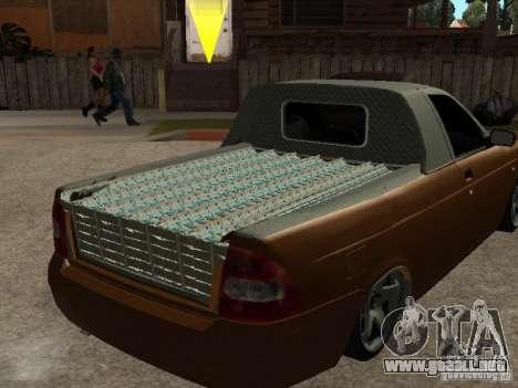 LADA 2170 Pickup para GTA San Andreas vista hacia atrás