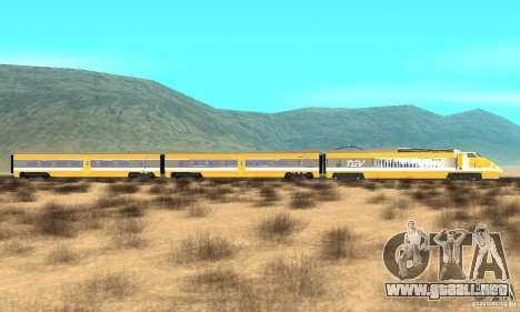 TGV SOUTH WEST para GTA San Andreas left