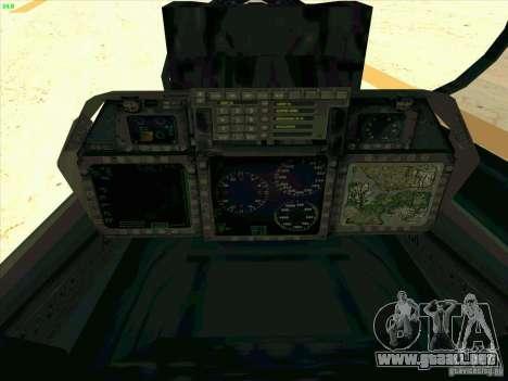 F-14 Tomcat Razgriz para la vista superior GTA San Andreas