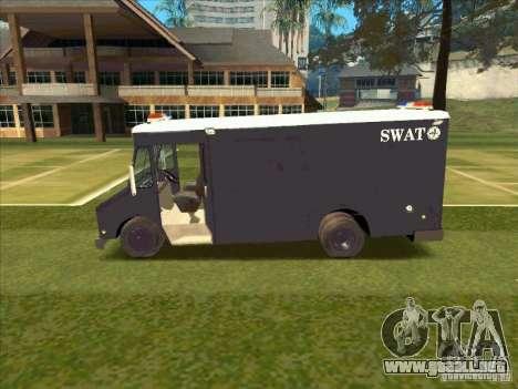 Swat Van from L.A. Police para GTA San Andreas vista posterior izquierda