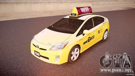 Toyota Prius NYC Taxi 2011 para GTA 4
