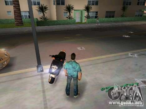 PIAGGIO NRG MC3 para GTA Vice City vista posterior