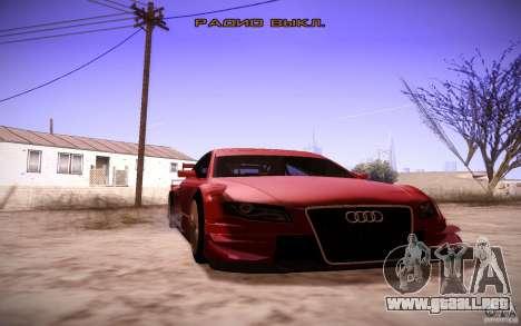 Audi A4 DTM para visión interna GTA San Andreas