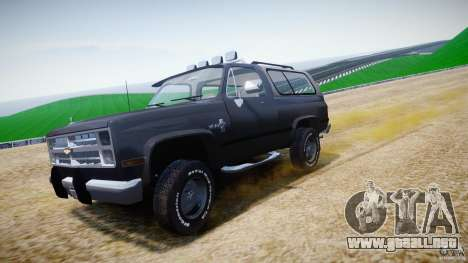 Chevrolet Blazer K5 Stock para GTA 4 vista superior