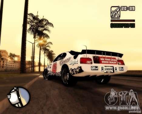 Dodge Nascar Beers Light 40 para GTA San Andreas left