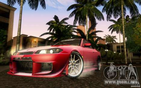 Nissan Silvia S15 Drift Style para GTA San Andreas vista posterior izquierda