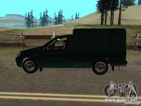 VAZ 2190 talón para GTA San Andreas vista posterior izquierda
