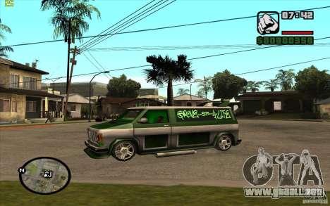 Grove Street Gang Burrito para GTA San Andreas vista posterior izquierda