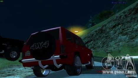 FBI Huntley 4x4 para GTA San Andreas left