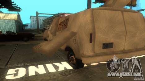 Dumb and Dumber Van para GTA San Andreas vista hacia atrás