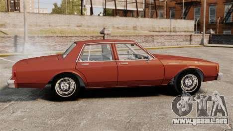 Chevrolet Caprice Classic 1979 para GTA 4 left