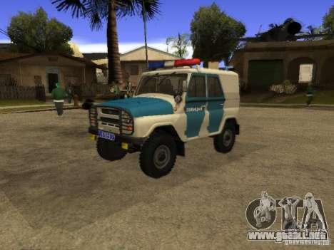 UAZ 31519 policía para GTA San Andreas