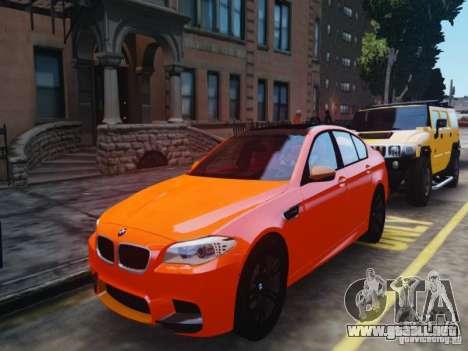 BMW M5 F10 2012 Aige-edit para GTA 4 Vista posterior izquierda