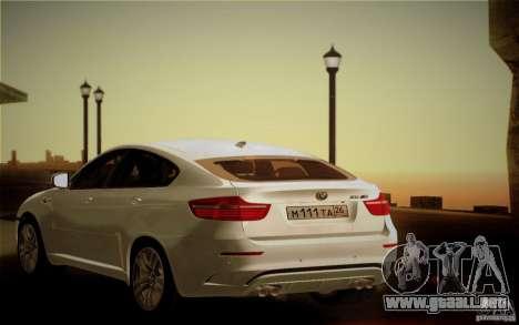 BMW X6M E71 para la vista superior GTA San Andreas