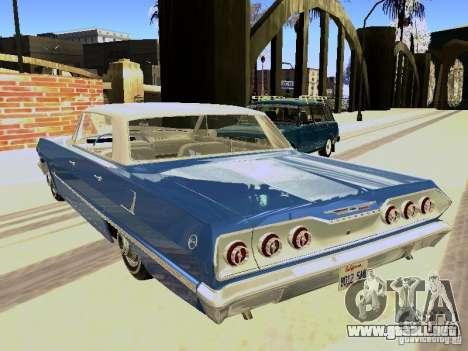 Chevrolet Impala 4 Door Hardtop 1963 para la visión correcta GTA San Andreas