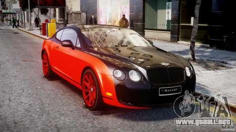 Bentley Continental SS 2010 Le Mansory [EPM] para GTA 4 vista hacia atrás