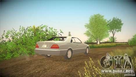 Mercedes Benz 600 SEC para GTA San Andreas vista posterior izquierda