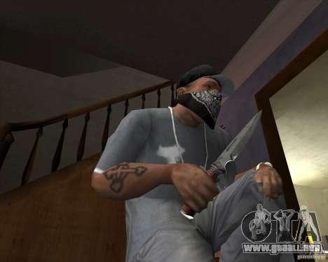 Hoja de caza para GTA San Andreas