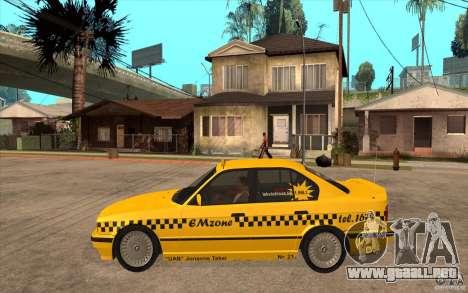 BMW 525tds E34 Taxi para GTA San Andreas left