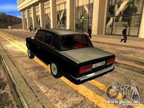 VAZ 2107 ZZ estilo para la visión correcta GTA San Andreas
