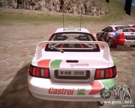 Toyota Celica ST-205 GT-Four Rally para GTA San Andreas left