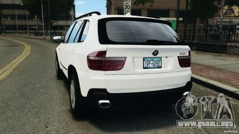 BMW X5 xDrive48i Security Plus para GTA 4 Vista posterior izquierda
