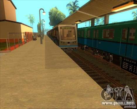 Las plataformas altas en las estaciones de tren para GTA San Andreas segunda pantalla