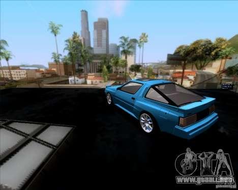 Mitsubishi Starion para GTA San Andreas vista posterior izquierda