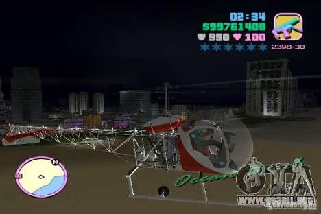 Bell 47 para GTA Vice City visión correcta