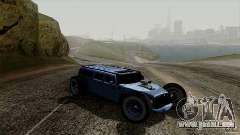 Hummer H2 The HumROD para GTA San Andreas vista posterior izquierda