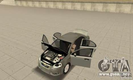 Chevrolet Aveo para GTA San Andreas vista hacia atrás