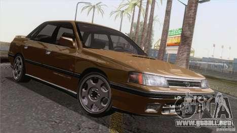 Subaru Legacy RS para visión interna GTA San Andreas