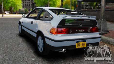 Honda CRX 1991 para GTA 4 Vista posterior izquierda