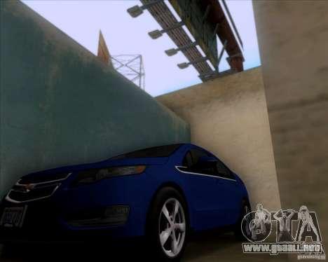 Chevrolet Volt 2012 Stock para la visión correcta GTA San Andreas