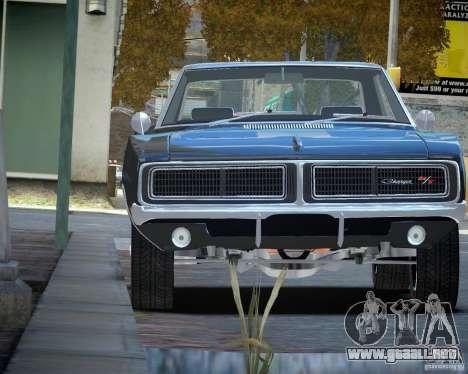 Dodge Charger RT Stock [EPM] para GTA 4 vista hacia atrás