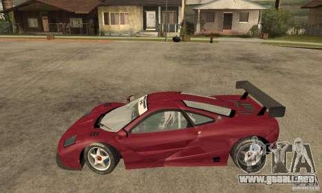 Mclaren F1 GTR (v1.0.0) para GTA San Andreas left
