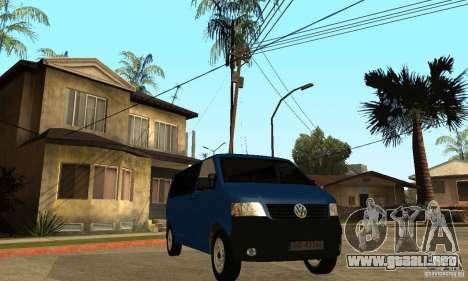 VW Transporter T5 2.5 TDI long para la visión correcta GTA San Andreas