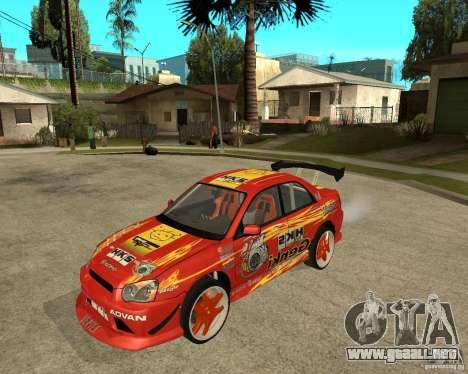 Subaru Impreza WRX STi D1 Spec para GTA San Andreas