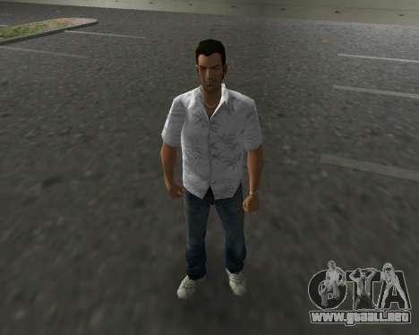 Camisa blanca para GTA Vice City