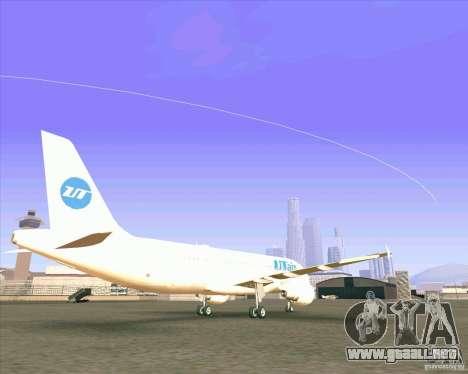 Airbus A-320 aerolínea UTair para GTA San Andreas vista posterior izquierda