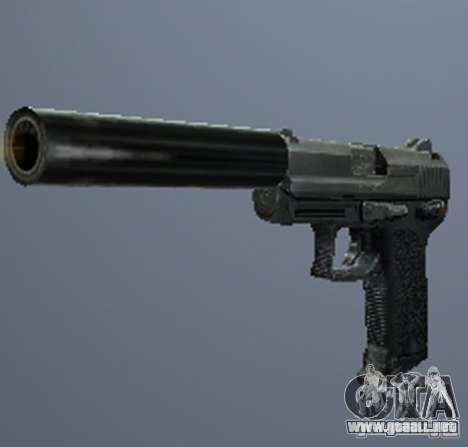 Un conjunto de armas de acosador V3 para GTA San Andreas sucesivamente de pantalla