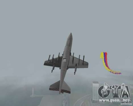 Multi color tiras para aeronaves para GTA San Andreas tercera pantalla