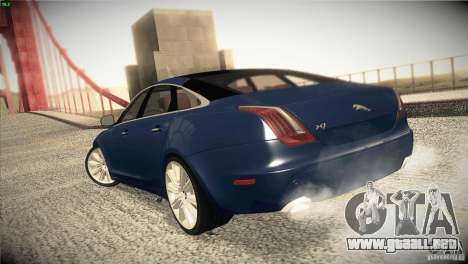 Jaguar XJ 2010 V1.0 para vista lateral GTA San Andreas